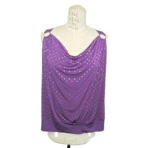 TORRID purple studded tank top